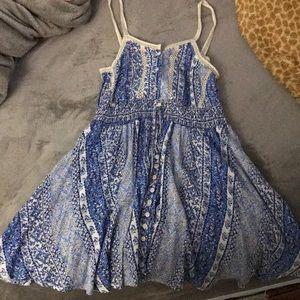 Blue flower patterned dress